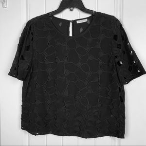 Equipment black cutout top